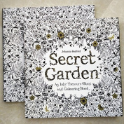 25cm x 25cm 96 pages English Secret Garden colouring books for adults Relieve Stress Kill Time Graffiti Painting Book libros