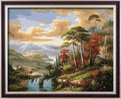 DIY PBN-paint by numbers Austria Landscape 41cm by 50cm Frameless.