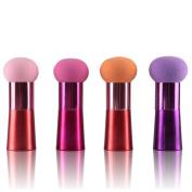 Yoyorule Women Cosmetic Liquid Cream Foundation Concealer Sponge Lollipop Brush Random Colour