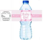 Baby Girl Baby Shower Umbrella Water Bottle Labels