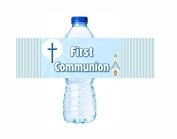 Happy Birthday Water Bottle Labels - Stripes