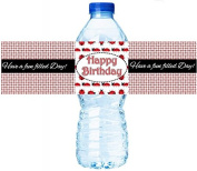Lady Bug Happy Birthday Water Bottle Labels
