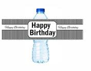 Mr & Mrs Burlap Brown Wedding / Anniversary Water Bottle Labels
