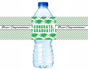 216 Graduation Party Favour Hershesy Kisses Labels - Green