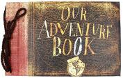 T-HAOHUA Our Adventure Book Up,Black Cardstocks DIY Anniversary Scrapbook Album Photo Album,Wedding Scrapbook Photo Album