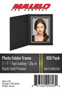 Black/Gold Cardboard Photo Folder Frame 5x7- Pack of 100