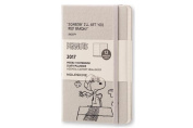 Moleskine 2017 Peanuts Limited Edition Weekly Notebook, 12m, Pocket, Light Grey, Hard Cover