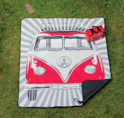 VW PICNIC BLANKET WITH CARRY BAG - RED