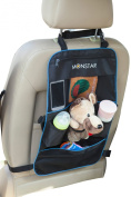 Monstar Backseat & Stroller Organiser Auto Car Seat Back Cover Protector and Storage Bag