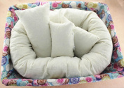 4 PC Newborn Photography ,Basket Filler Wheat Donut Posing Props Baby Pillow