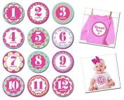 Sticky Bellies Baby Month Stickers - Kaliedoscope Cutie