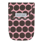 diapees & wipees Laminated Pouch w/ Wipes Case - Pink Polka Dots