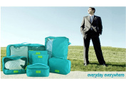 Travelmall 7 pc set Luggage Packing Cubes Storage bag Travel Organiser Case different size