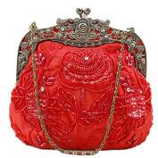 Belsen Women's Vintage Beaded Sequin Flower Evening Handbags