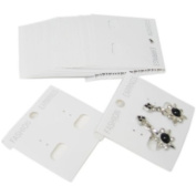 100 pcs White Plastic Hanging Earring Cards
