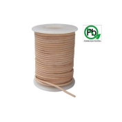 Round Leather Cord Natural 1mm 25meters