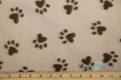 Puppy Paws Brown Anti-Pill Polar Fleece Fabric Polyester 380ml 150cm - 150cm