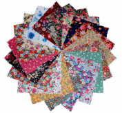 100 10cm Among the Flowers Quilting Fabric Charm Pack