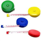 TAPE MEASURE RETRACTABLE 60 inch 150 cm COMPACT TRAVEL SEWING BEADING CRAFT 3pc RANDOM colour CHOICE