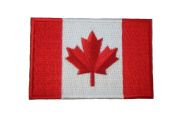 Canada Country Flag Small Iron on Patch Crest Badge ... Canadian .. 3.8cm X 6.4cm ... New
