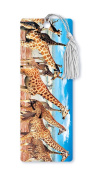 Dimension 9 3D Lenticular Bookmark with Tassel, African Giraffes