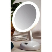 Floxite Fl-10jh 10x Incandescent Lighted Vanity Mirror Pearl