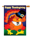 Happy Thanksgiving Turkey Indoor/ Outdoor Sublimation Flag 70cm X 100cm 13037