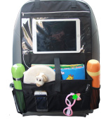 Misslo Car Back Seat Organiser Multi-Pocket Travel Storage With Touch Screen iPad Holder