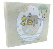 Baby photo album gift Noah's Ark Theme holds 80 15cm x 10cm photos