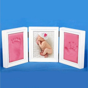 Photo Frames,Double Print Frame Classic Toddler Infant Baby Hand and Foot Print Photo Frame Kit Picture Frames baby Boy/Girl Handprint or Footprint Frame Keepsake Gifts