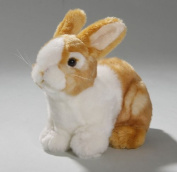 Soft Toy Rabbit Bunny sitting brown, 19cm. [Toy]