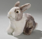 Soft Toy Rabbit Bunny sitting grey, 19cm. [Toy]