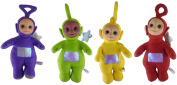 Set Of 4 - 50cm Large Teletubby Soft Cuddly Toys - Tinky Winky, Dipsy, Lala + Po