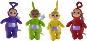 Set Of 4 - 50cm Large Teletubby Soft Cuddly Toys - Tinky Winky, Dipsy, Lala + Po