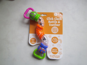 Click Clack Twist and Turn Rattle Baby Rattles Toy Activity 0 month+ Teether Toy
