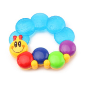 Wishtime Water Filled Teethers for Babies Activity Sensory Teethers Rattle Toy Caterpillar