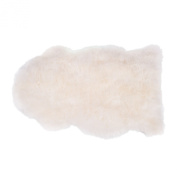 White Natural Length Sheepskin