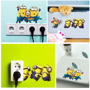 PremierCor(TM) Cartoon Lovely Minions Despicable Me Removable Wall Sticke DIY Kid's Child Room Decor Decal Home Decoration Stickers