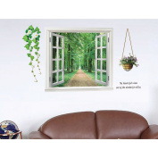 PremierCor(TM) Removable 3D Beautiful View of Forest Alley DIY Wall Stickers Wallpaper Art Decor Mural Room Decor Home Decoration Decors