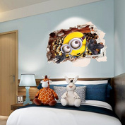 3D decorative paintings yellow sticker PVC wall decal removable stickers