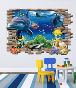 3D stereo pictures Finding Nemo submarine world PVC wall sticker