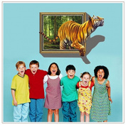 Tiger extra 3D effect wall stickers removable wall stickers