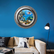 3D underwater world mural submarine outdoors children's rooms living room sofa background wall stickers