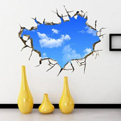 Blue Sky 3D wall stickers stick home wall decoration stickers waterproof