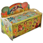 Dida - Bench portagiochi in wood for children - decoration