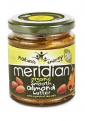 (12 PACK) - Meridian - Org Smooth Almond Butter | 170g | 12 PACK BUNDLE
