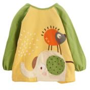 2 Cotton Baby Accessories Feeding Bibs & Waterproof Infants Bibs-Green