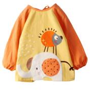 2 Cotton Baby Accessories Feeding Bibs & Waterproof Infants Bibs-Orange