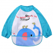 2 Waterproof Baby Bibs Overclothes Kids Feeding Bibs/Smock-Elephant