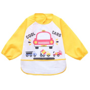 2 Waterproof Baby Bibs Overclothes Kids Feeding Bibs/Smock-Car